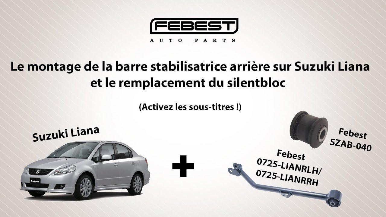 Le montage de la barre stabilisatrice arrière sur Suzuki Liana  (Activez les sous-titres !)