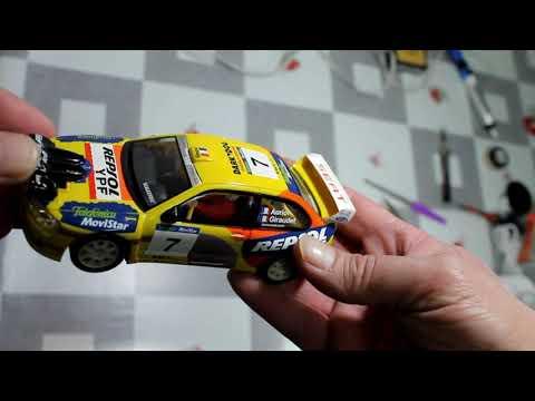 38-Preparacion basica coche de Rally scalextric, scx, Seat Cordoba