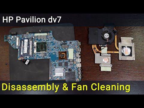 HP Pavilion dv7-6c Series disassembly and fan cleaning, как разобрать и почистить ноутбук