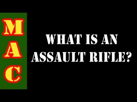 Assault Rifle vs. Sporting Rifle