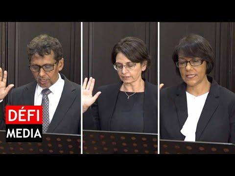Commission d'enquête sur Ameenah Gurib-Fakim : les trois juges prêtent serment