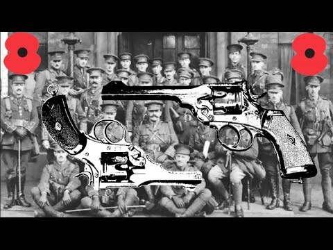 How were revolvers used and worn in the British army in WW1?