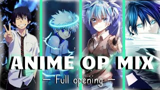anime opening compilation { Full OP Mix }