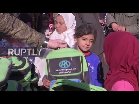 Syria: Russia Delivers Humanitarian Aid To Manbij Region