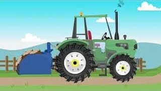 Brave Green Tractor Works On The Farm | Different Machines