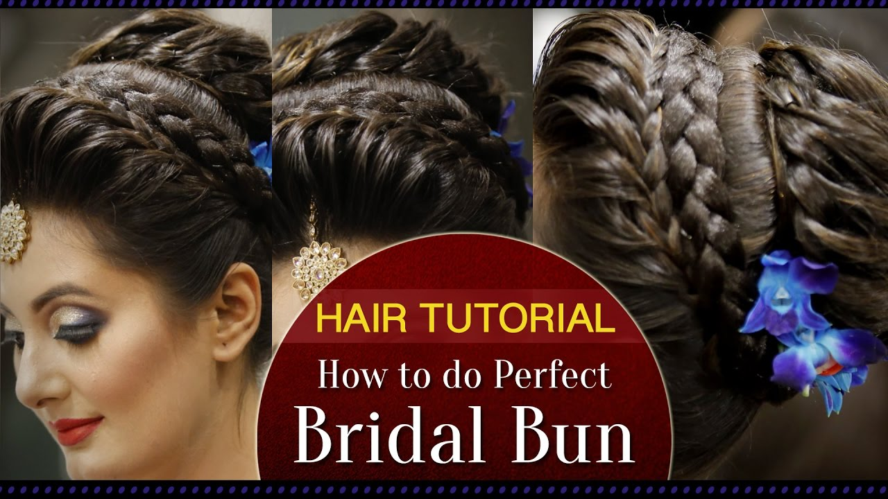 How To Maintain Your Wedding Hairstyle: How To Do A Perfect Bridal Bun Hair Tutorial Video