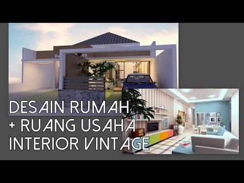Desain Rumah Minimalis Dengan Tempat Usaha desain rumah 1 lantai dengan ruang usaha didepan 11x24m