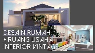 Desain rumah 1 lantai dengan ruang usaha didepan [11x24m] Mp3