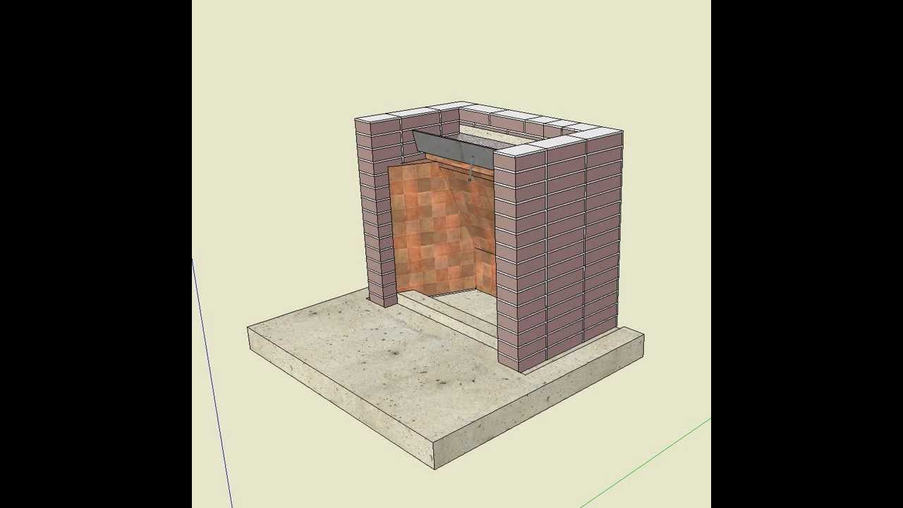 Chimenea en sketchup sistema de construccion youtube for Construccion de chimeneas de ladrillo