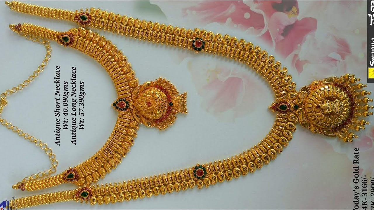 Latest Designer Gold Necklace With Weight Youtube