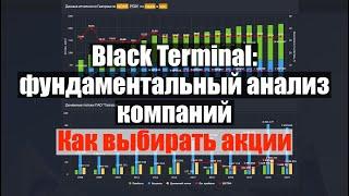 Black Terminal: фундаментальный анализ акций. Выбор акций для инвестиций. Какие акции покупать