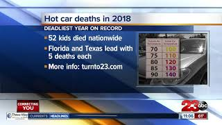 More kids died in hot cars in 2018