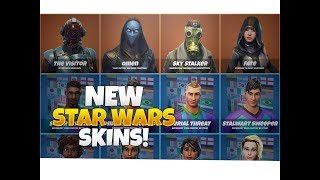 Fortnite *NEW* Leaked Star Wars Skins! Fortnite Leaked Skins: The Visitor, Omen, Sky Stalker, & Fate