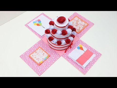 How to Make Explosion Box for Cake | DIY Birthday Cake Explosion Box | Easy Explosion Box Tutorial