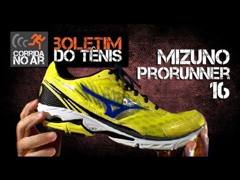 Mizuno Wave Prorunner 16  Boletim do Tênis  - YouTube 9c8c5e963e140