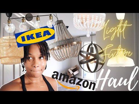 AFFORDABLE HOME UPGRADES - IKEA AMAZON LIGHT FIXTURE HAUL | EP 15