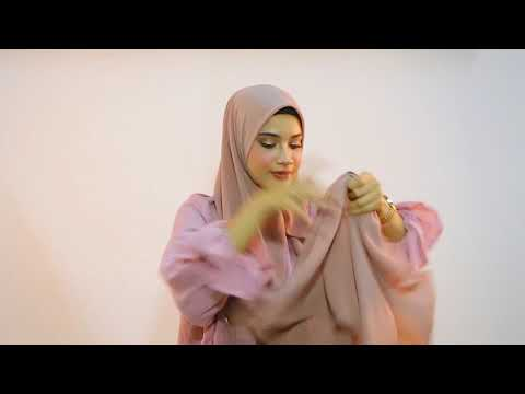 Tutorial Bawal Instant Shawl by Awanis Couture