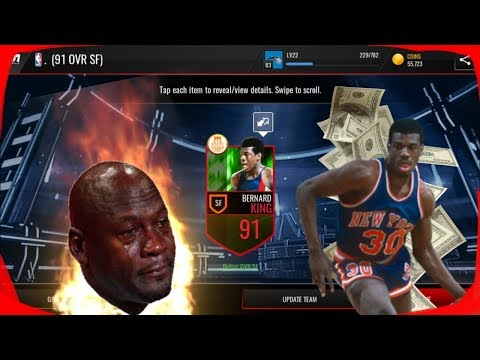 91 OVERALL BERNARD KING! NEW YORK KNICKS NBA Live Mobile Gameplay 18 Pack Opening ep. 6 QJB