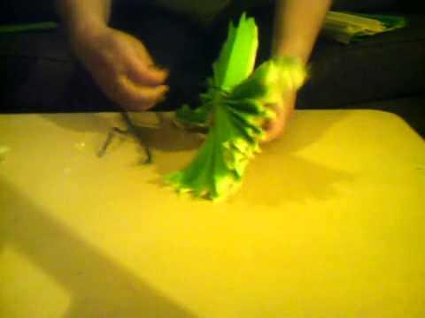 Fleurs En Papier Crepon Geantes Youtube