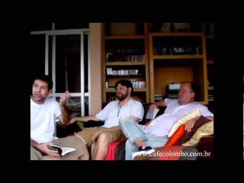 Marcelino Freire, Jorge Ribeiro e Wilson Freire falam ao Café Colombo