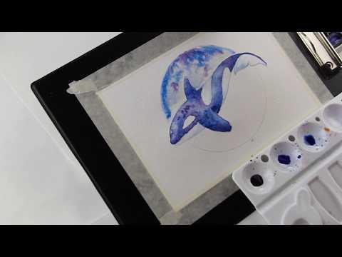 Акварельный скетч. Как нарисовать рыб.