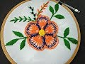 Hand Embroidery | Fantasy Flower Embroidery | Fantasy Flower Stitch | Flower Embroidery Tutorial