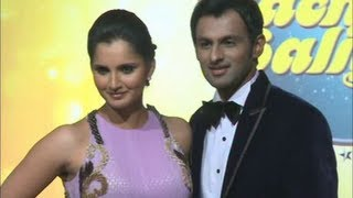 Sania mirza and shoaib malik guest couple on nach baliye.
