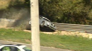 BMW drift crash in Nemuno žiedas (Rinalds Rižovs)