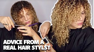 HOW I TRIM MY CURLY HAIR AT HOME (advice from a curly hairstylist)