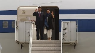 Chinese President arrives at PBIA