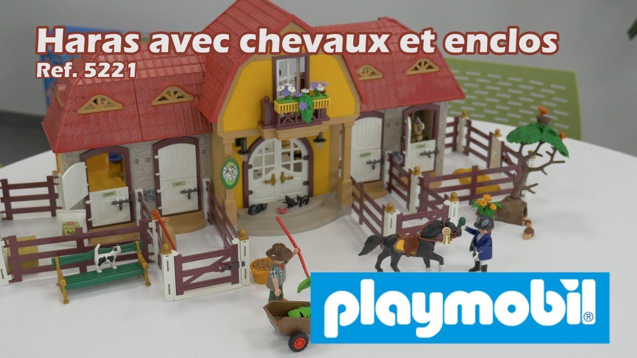 Playmobil haras avec chevaux et enclos 5221 d mo de la - Playmobil haras ...