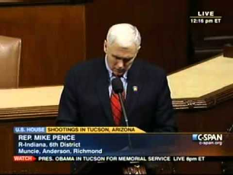 Pence Floor Speech Honoring Victims of Tucson Shooting