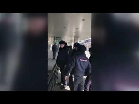 Задержание хулингана у администрации Приморья