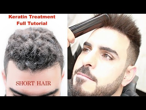 KERATIN TREATMENT FOR SHORT HAIR★HAIR STRAIGHTENING || CURLY HAIR ★HAIRSTYLES TUTORIAL / viral✔️