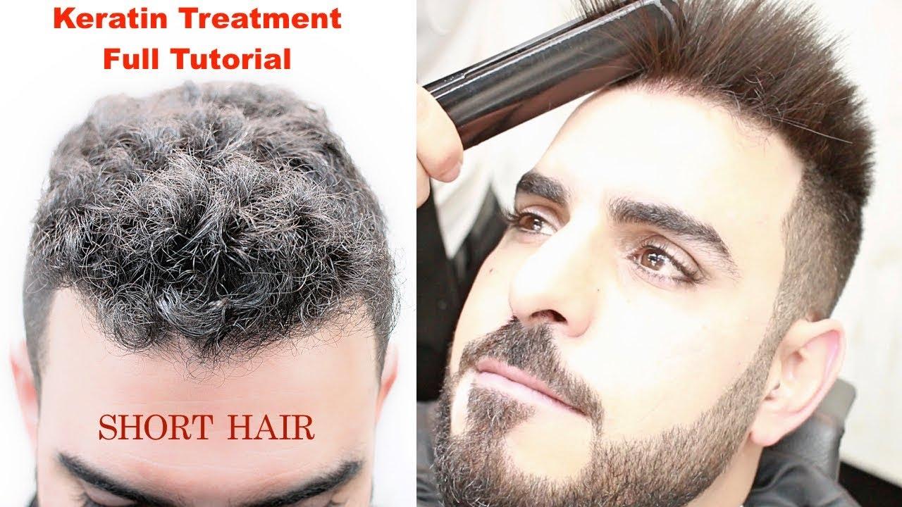 Keratin Treatment For Short Hair Hair Straightening Curly Hair Hairstyles Tutorial Viral Youtube