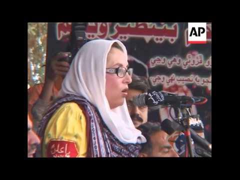 Benazir Bhutto travels
