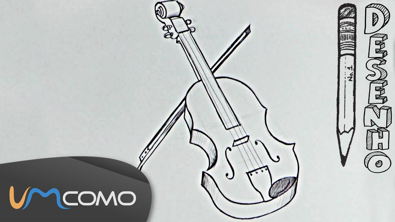 Desenhar Um Violino De Forma Facil Youtube