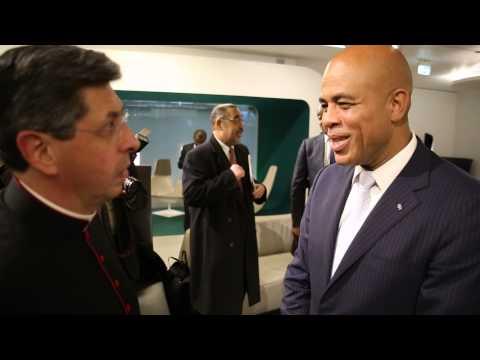 Arrivee du President Michel Martelly A Rome en Italie