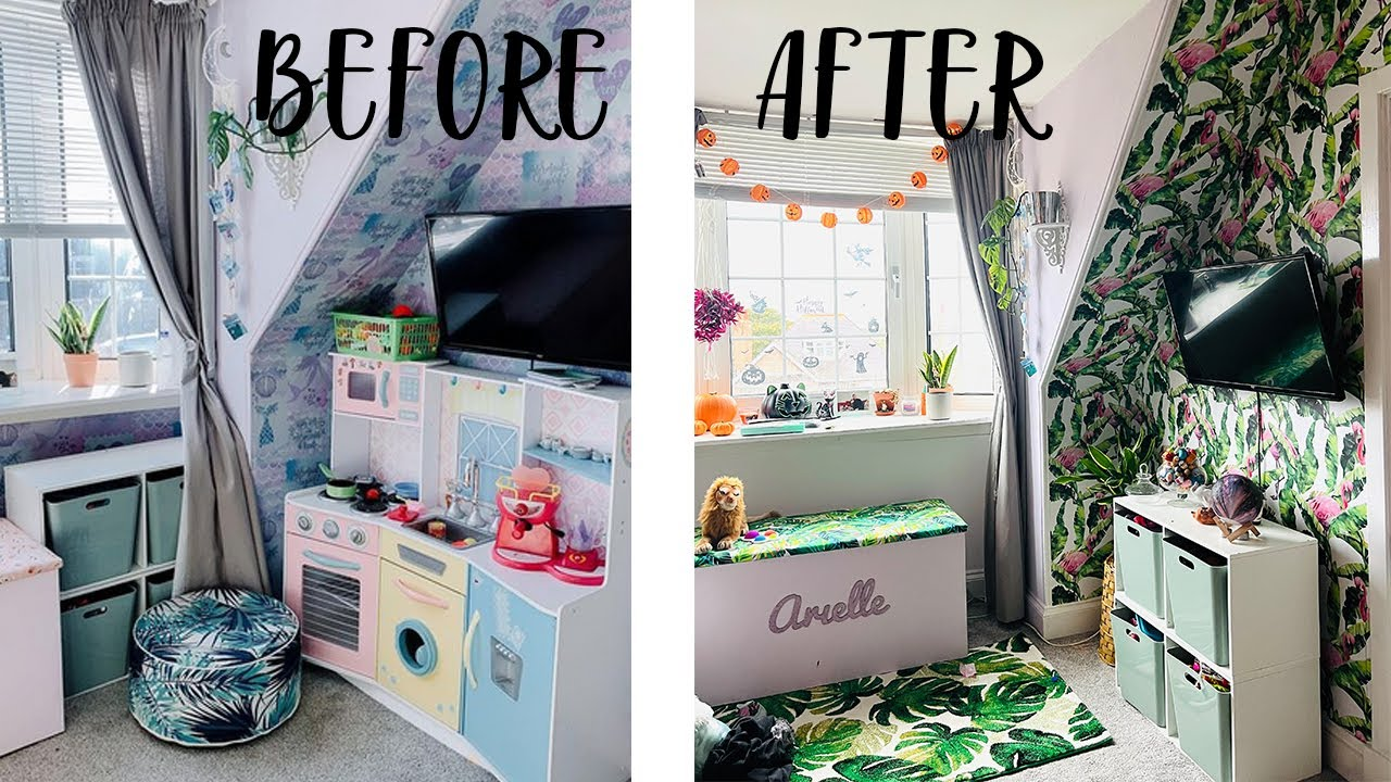 Download Tropical paradise room makeover! *little girls room to big girls room, easy and cheap*
