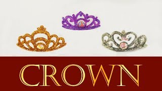 Miniature Princess Crown / Tiara / Coroa de princesa p/ Barbie / Doll Tutorial