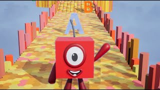 Numberblock One Learn to Count, ABCs, Shapes and Fruits