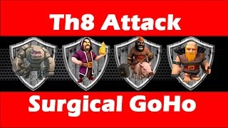 Clash Of Clans - Th8 Attack Strategy - Surgical Hog - Poison Spell In Action