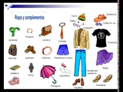 Spanish Vocabulary Clothes With Pronunciation Youtube