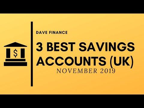 Top 3 UK Savings Accounts (November 2019)