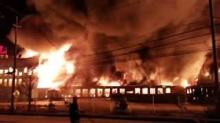 **FULL VIDEO** W/ FD AUDIO MARCAL PAPER FACTORY FIRE ELMWOOD PARK NJ 1-30-19