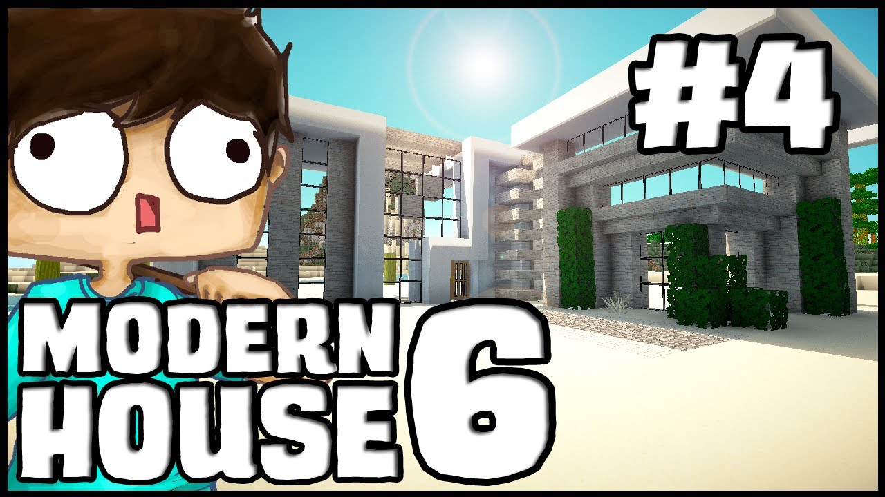 minecraft lets build modern house 6 part 4 youtube