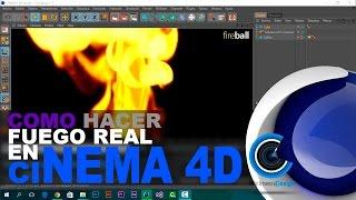 (FUEGO REAL) Como crear una bola de fuego en Cinema 4D (Fireball) | TurbulenceFD |