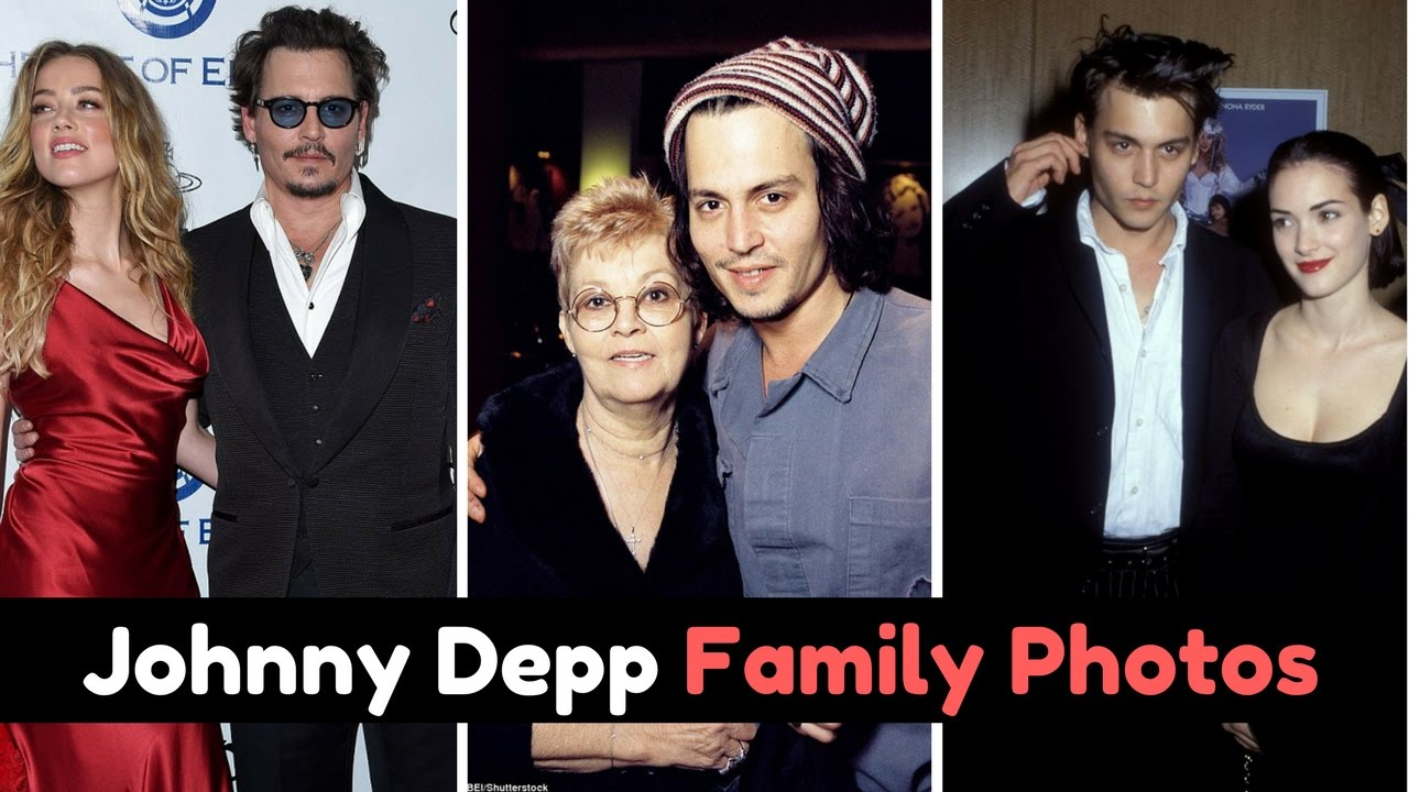 Actor Johnny Depp Family Photos with Former Spouse ...