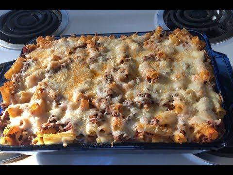 The Best Baked Ziti Recipe | How To Make Baked Ziti With Ground Beef, Sausage & Ricotta