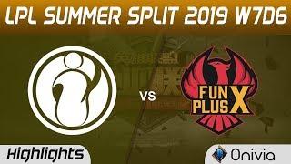IG vs FPX Highlights Game 3 LPL Summer 2019 W7D6 Invictus Gaming vs FunPlus Phoenix LPL Highlights b